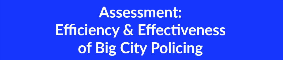 Assessment  Efficiency & Effectiveness  of Big City Policing