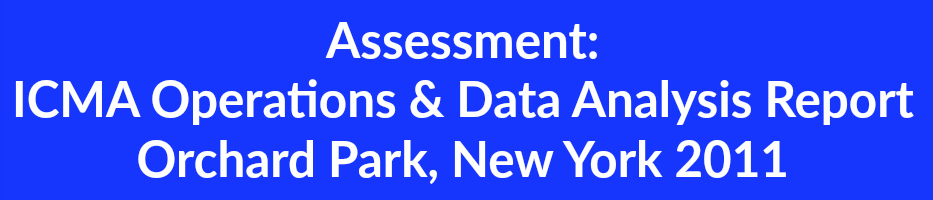 Assessment  ICMA Operations & Data Analysis Report Orchard Park, New York 2011