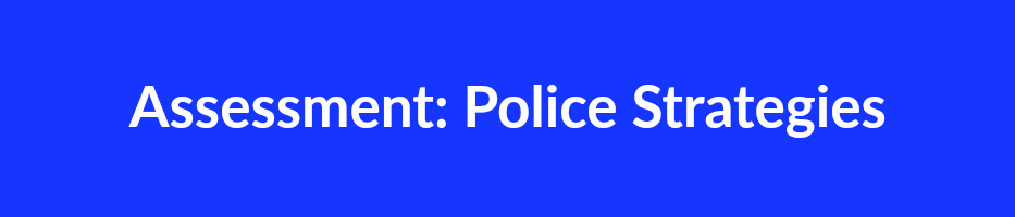 Assessment Police Strategies